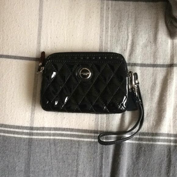 Coach Handbags - Black Coach Wristlet